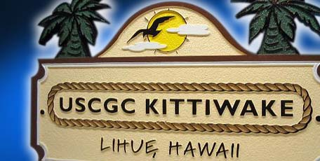 sandblasted emblem Coast Guard Cutter Kittiwake Hawaii